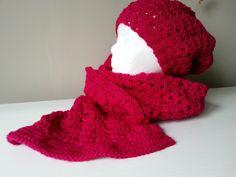 szalik i czapka na szydełku, crochet scarf and beanie, video tutorial