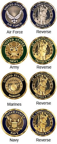 U.S. Military St. Christopher Challenge Coin and purchase benefits homeless veterans via The Veterans Site