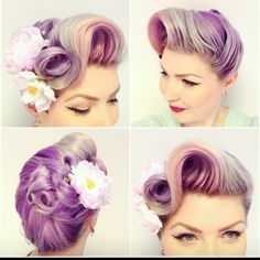 Pastel purple hair  #hairinspo #haircolor #purplehair
