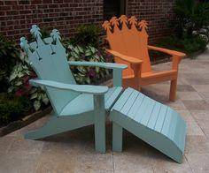 Cypress Adirondack furniture. Adirondack Furniture, Outdoor Furniture, Grace Home, Bench Stool, Outdoor Chairs, Outdoor Decor, Benches, Stools, Outdoors