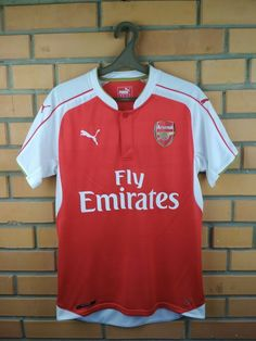 2bd1d1fec69 Advertisement(eBay) Arsenal jersey small 2015 2016 home shirt soccer  football Puma