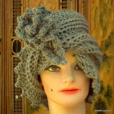 Womens Crochet Hat  Twisted Crochet Cloche by strawberrycouture on Etsy, $34.99