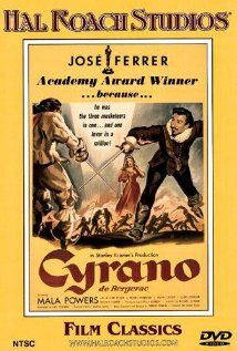 """BEEST ACTOR:   JOSE FERRER  for """"Cyrano de Bergerac""""    (1950)  The charismatic swordsman-poet helps another woo the woman he loves in this straightforward version of the play. Born: José Vicente Ferrer de Otero y Cintrón  January 8, 1912 in Santurce, Puerto Rico Died: January 26, 1992 (age 80) in Coral Gables, Florida"""