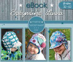 Nähanleitungen Kind - ★ eBook ★ Babymütze Linna ★ Größe 32-52 ★ - ein Designerstück von MeineHerzensweltDIY bei DaWanda