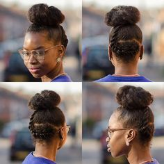 Easy way to jazz up your bun is to add a flat twist  1. Spritz hair with water  2. Add your styler I used the @auntjackiescurlsandcoils curl la la and the @alikaynaturals aloe berry gel  3. Part your hair in the back for your flat twist  4. Smooth your hair up with a ouchless goody band pin in shape of a bun 5. Do your flat twist, wrap it around your bun and pin to keep in place  6. Add some olive oil all over for more goodness