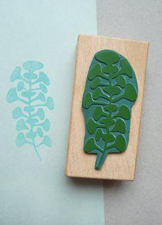 karamelo • • Botanical rubber stamp: Trompetenpflanze (trompete plant)