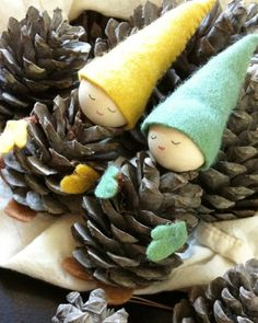 pinecone1 600x750 DIY: Pinecones gnomes in diy with Repurposed pinecone gnomes DIY