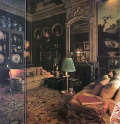 Geoffrey Bennison, Photographs by James Mortimer from The World of Interiors, July/August 1983 English Country Decor, British Country, French Colonial, French Chateau, World Of Interiors, French Interiors, Famous Interior Designers, Grand Homes, Traditional Interior