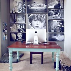 Gorgeous and inspiring gallery walls (image via melange, in English and Spanish).
