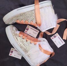 Wedding Converse Bling&Pearls Custom Converse Sneakers | Etsy Wedding Converse, Wedding Heels, Lace Sneakers, Converse Sneakers, Wedge Shoes, Shoes Heels, Custom Converse, Bling Shoes, Platform Shoes