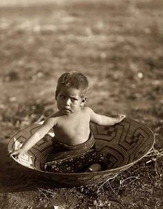 a Maricopa Indian Child. It was taken in 1907 by Edward S. Curtis.