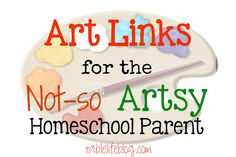 Not the artsy type? No worries, I've got a great roundup to meet your homeschool art needs.  Ideas for art appreciation, instruction, projects ...
