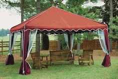 Garden Party Canopy - 10' X 10' - Burgundy