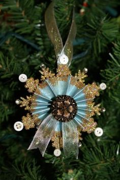 Making snowflake ornaments