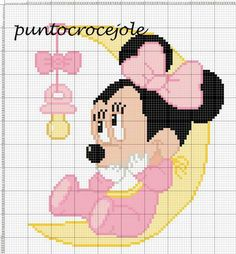 Minnie Mouse x-stitch