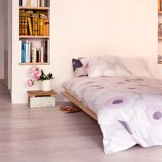 Unikko duvet cover and pillow case by Marimekko.