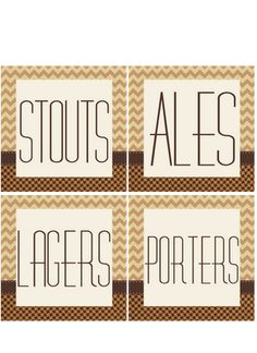 Free Beer tasting party printables and ideas