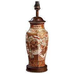 19th Century Satsuma Vase Lamp   From a unique collection of antique and modern table lamps at https://www.1stdibs.com/furniture/lighting/table-lamps/