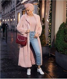 Pinky furry cute hijab outfits – Just Trendy Girls