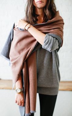 #fall #fashion / knit layers