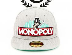 Monopoly Basic Heather-Seagreen 59Fifty Fitted Baseball Cap by MONOPOLY x NEW ERA