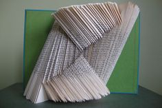 From www.explodedlibrary.tumblr.com - OMG. I've done loads of ;word' book folding, but this is something new!