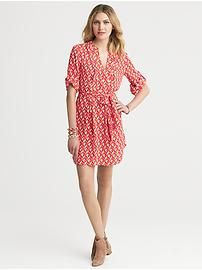 Geo Print Pleated Shirtdress... looking for ideas for my Banana gift card