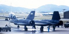 Design flaw: typical Blackbird fuel leakage prior to the plane's skin heating up at high speed; not aware of the faster X-15, from the same era, having this thermal expansion/sealing problem (?)