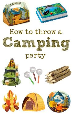 How to throw a camping birthday party. Tons of games, decorations, and ideas that will make your camping party fun.