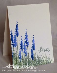 Simply One Of A Kind, NOT Stampin' Up! but I want to try this freehand.  Could be turned into Texas bluebonnets!!