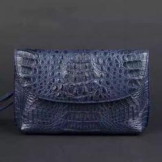 Mens Clutch Shoulder Bags,Crocodile Leather