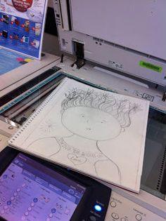 Using a gel medium Kid Lit Artists