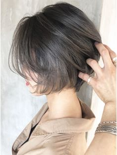 Pin on 髪型 Short Bob Hairstyles, Hairstyles Haircuts, Pretty Hairstyles, Japanese Short Hair, Asian Short Hair, Short Hair With Layers, Short Hair Cuts, Boxie Cut, Medium Hair Styles