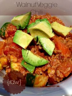 From the blog: Spicy Raw Summertime Chili. Get recipe here: http://foodconfidence.com/2013/07/25/spicy-raw-summertime-chili/