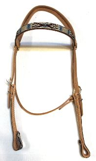 Western Navajo Show Headstall available at msaddles.com! #horses #tack #leather