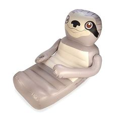 Float around in comfort with our Huggables Sloth Inflatable Pool Float. This cute sloth float is big enough to hug you! Baby Sloth, Cute Sloth, Baby Otters, Swimming Pool House, Swimming Pools, Lap Pools, Indoor Pools, Backyard Pools, Pool Decks