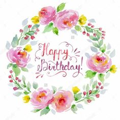 New happy birthday wishes inspiration 20 ideas Happy Birthday Logo, Happy Birthday Floral, Happy Birthday Greetings Friends, Happy Birthday Typography, Birthday Blessings, Happy Birthday Messages, Happy Birthday Images, Birthday Greeting Cards, Birthday Quotes