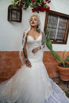 Lora Arellano in her beautiful wedding dress