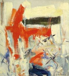 """Joan Mitchell - """"Untilted """", c. 1950s - Oil on canvas - 45,10 x 40,60 cm"""
