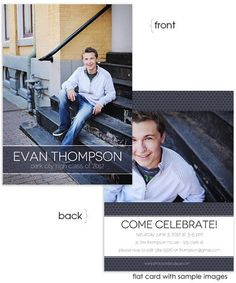 Evan 5x7 Senior Flat Card