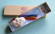 Nubeolas Rainbow Cloud Brooch by filomeluna on Etsy