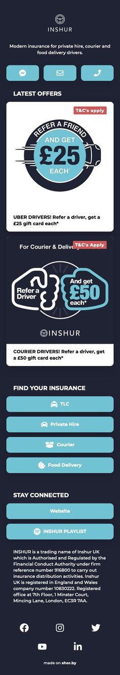 Modern #insurance for private hire, courier and food delivery drivers. #pinterestinspired #landingpage Uber Driver, Finding Yourself, Delivery, Modern, Food, Trendy Tree, Essen, Meals, Yemek