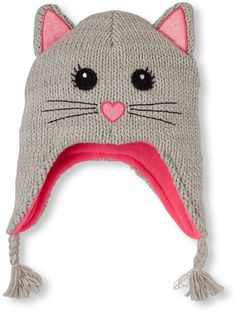 388f826977a Girls Shimmery Cat Hat Girls Winter Coats