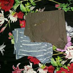 Bundle 2 jean shorts Bundle of Gap olive and pinstripe size 12 shorts. GAP Shorts Jean Shorts