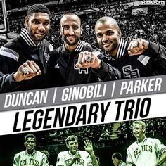 Go Spurs Go-Legendary Trio. Tim Duncan, Manu Ginobili & Tony Parker