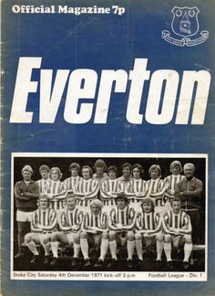 Everton v Stoke City 1971-72 match programme