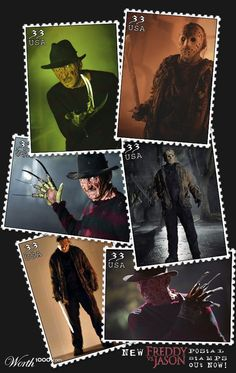 Freddy vs. Jason Stamps - Worth1000.com