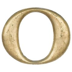 1920's Woolworth Cast Iron Letter O
