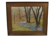 Artwork by Harold C. Dunbar, Rejuvenescence, Made of Oil on canvas