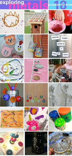 18 Metal Projects for Kids | BABBLE DABBLE DO | Get started exploring this versatile material and some of it's properties with these 18 projects #kidscrafts #kidsart